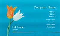 Blue Tulips Florist Business Card Template